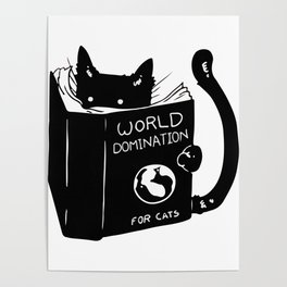 World domination - for cats Poster