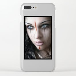 Edge of Her World Clear iPhone Case