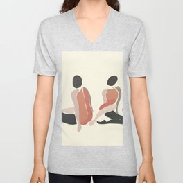 Woman Forms Unisex V-Neck