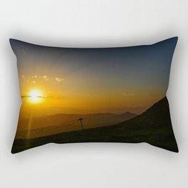 Alpine Sunset Rectangular Pillow