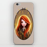 catcher in the rye iPhone & iPod Skins featuring Raychel In The Rye by Anna Wintery