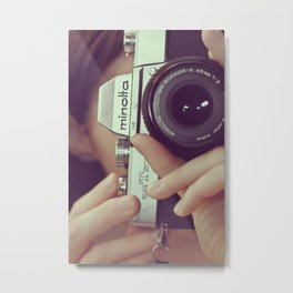 I'd rather be taking pictures. Metal Print