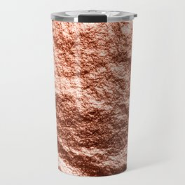 Rose gold draped foil Travel Mug