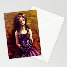 emo girl Stationery Cards
