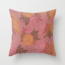 RAINBOW HENNA Throw Pillow