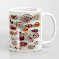 agate Mugs featuring agate,gemstone by ira gora