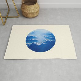 Mountains With Their Company Of Clouds Circle Photo Rug