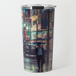 The Smiling Man // Rainy Tokyo Nights Travel Mug