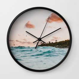 summer sunset iv Wall Clock
