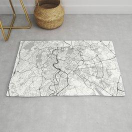 Rome City Map Gray Rug