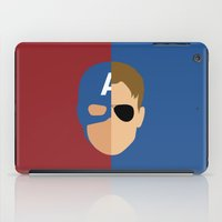 steve rogers iPad Cases featuring Captain Rogers by Nick Kemp