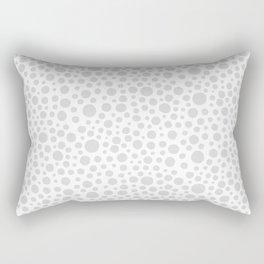 Hand drawn polka dot pattern - Grey Rectangular Pillow