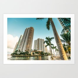 miami beach and downtown Art Print