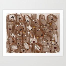 Woof Pack (duotone) Art Print