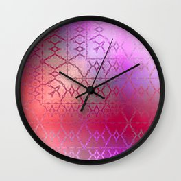 Summer of Retro (pretty pink) Wall Clock
