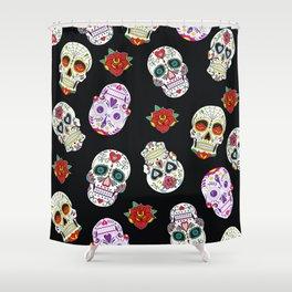 Sugar Skull Pattern Shower Curtain
