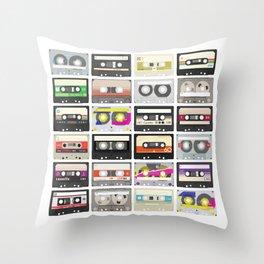 Cassettes (mixtape love) Throw Pillow