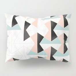 Mixed Material Tiles Pillow Sham