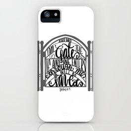 John 10:9 - Jesus saves iPhone Case
