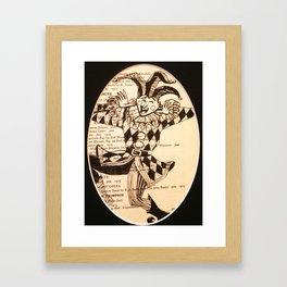 Jest Framed Art Print