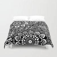 zentangle Duvet Covers featuring Zentangle by Patricia Silveira