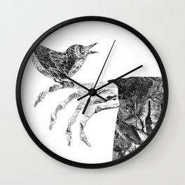 Death and the Nightingale Wall Clock