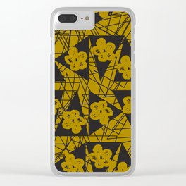 Triangles and Flowers Clear iPhone Case