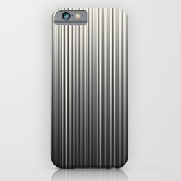 Soft Industrial Cream and Black Blended Random Vertical Lines iPhone Case