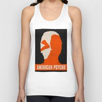 american psycho Tank Tops featuring American Psycho by Bill Pyle