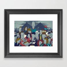 Twin Peaks (variant) Framed Art Print