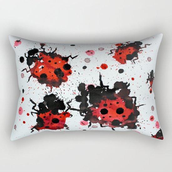 Splattered bugs Rectangular Pillow