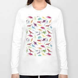 Watercolour Dinosaurs Long Sleeve T-shirt
