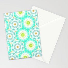 Pretty Pastel Tie-Dye Hexagons Pattern Stationery Cards