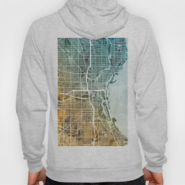 Milwaukee Wisconsin City Map Hoody