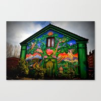 hippy Canvas Prints featuring house hippy by  Agostino Lo Coco