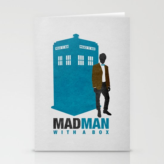 MAD MAN With A Box Stationery Cards