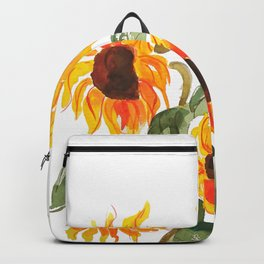 sunflower watewrcolor 2018 Backpack