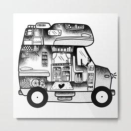 Vanlife campervan interior Metal Print
