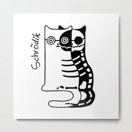 Schrodingers Cat – Quantum paradox Metal Print