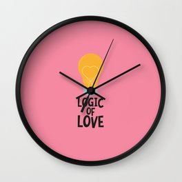 Logic of love bulp T-Shirt for Women, Men and Kids Wall Clock