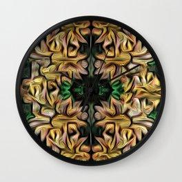 Yellow Garland Wall Clock