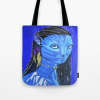 avatar Tote Bags featuring Avatar by maggs326