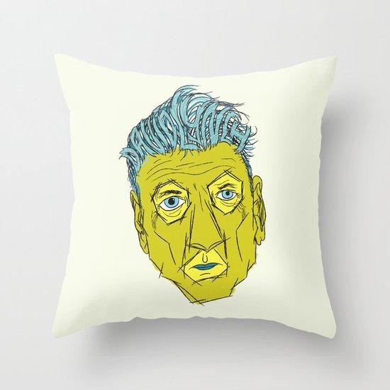 DAVID LYNCH AGAIN Throw Pillow