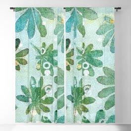 Dreamy green flowers Blackout Curtain