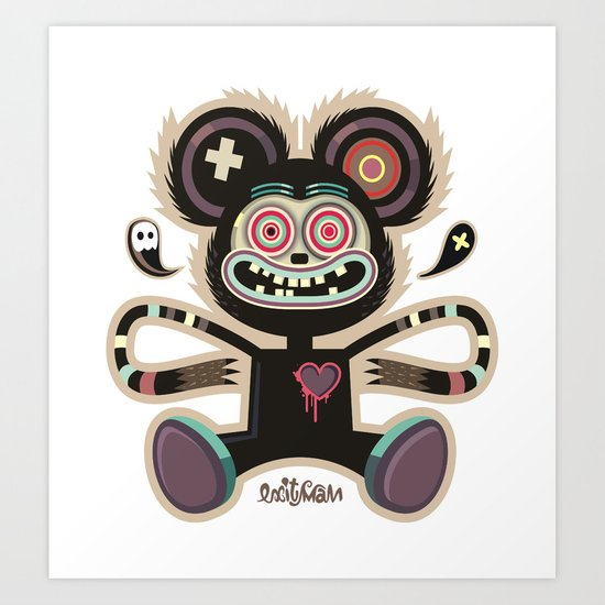 Freemouse (without background) Art Print