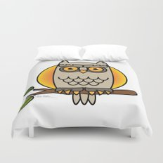 Owl in a Circle Duvet Cover