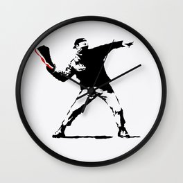 Jordan BRED 11 Thrower Wall Clock