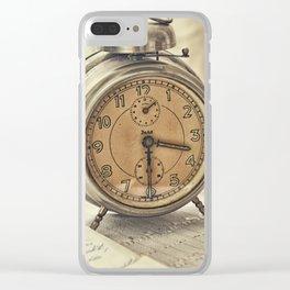 Vintage alarm clock Clear iPhone Case