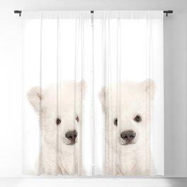 Baby Polar Bear Portrait Blackout Curtain