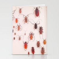 insects Stationery Cards featuring Insects by Guo Shiyuan